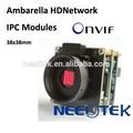 Cámara IP HD digital para red CCTV con chip Sony de Ambarella, cámara CCTV para baja luz con ONVIF y H.264