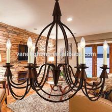 Brass Modern Vintage Industrial Loft chandelier