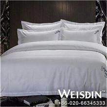 plain dyed wholesale china 100%cotton bedding set bed linen famous brand