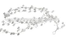 Crystal & Silver Wire Decorative Garland