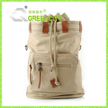 Woman Men Canvas Leather Backpack