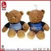 Custom stuffed plush toy teddy bear with T-shirt