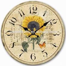 Antique Wall clock,retro vintage style MDF clock wall