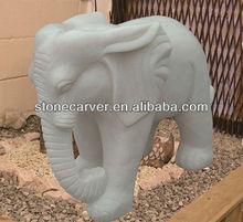 China Hot Sale White Marble Elephant Statue