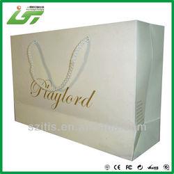 wholesale custom wine paper bag printed with rope handle