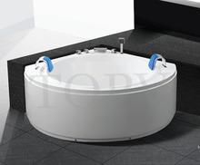 Luxury oval skirt whirlpool massage corner bathtub with seat -MT 8306