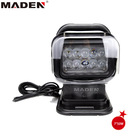 50W CREE LED remote controller spotlight wireless LED search light black color for boat marine 4x4 off road use