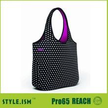 lovely dot hobo bag neoprene tote bag
