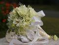 el yapımı fildişi ipek Camellia çarpıcı kristal elmas gelinlik gelinlik düğün buket dekor