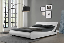 European Style White Furniture PU Leather Bed WSB891