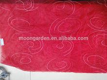 100% ployester novo projeto da cortina do bordado tecido