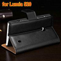 Hot Selling Luxury PU leather custom cover case for nokia lumia 520 300pcs/lot