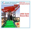 Precio bajo de esclusa máquina de caja a refinar oro, pequeña escala oro planta de lavado, esclusa máquina de caja de Jiangxi 29 años proveedor