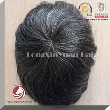 100% virgin human hair grey hairpieces for men various styles