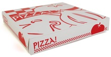 Heavy-duty corrugated craft standard clamshell design pizza box take out container
