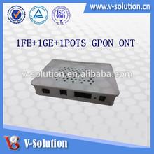 ZTE C300 OLT GPON ONU Broadcom chipset BCM68385 ,1FE+1GE+1POTS GPON ONT