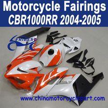 2004 2005 For HONDA CBR 1000 RR Fairing Kits Pearl White And Orange FFKHD019