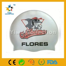 promotional gift waterproof Any Logo national flag swimming cap