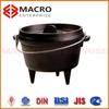 cast iron dutch oven/cast iron casserole for campling