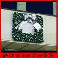 2014 decorativa de natal grinalda quadrado com bownot prateado