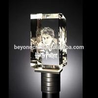 engraving cube crystal keepsake,figure crystal craft