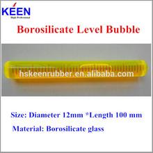 Borosilicate spirit bubble level with high precision 12mm