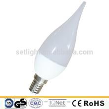 220-240V 3W 240Lm 150degree SMD2835 Warm white Candle LED Bulb E14