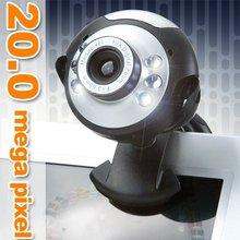 USB Webcam 20MP 6 LED 20 MegaPixel Web Cam, Built-in Microphone Mic for Laptop PC