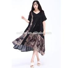2014 Summer latest floral stitching plus size latest pakistani casual dress designs