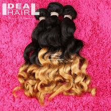Hair producer !! 100% human hair two tone brazilian hair weave
