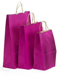 Hot pink paper party favor bags, bags for crafts, small gifts bags
