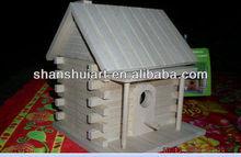 Customized various designs wooden bird house