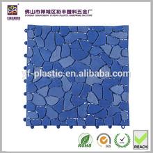 Hot sale and fashionable little stone design pvc mat