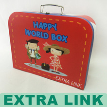 New Design GuangZhou Factory Handmade Recycle Customized cardboard box with handle