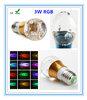 online shopping site Aluminum material Globe 3w e27 led rgb bulb
