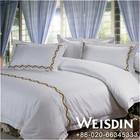 full size 5 star white hotel 100 cotton jacquard bedding set