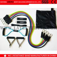 12 Piece Natural Latex Resistance Band Set