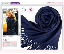 Supply Navy Blue Color Acrylic Winter Cheap Shawls and Scarves Pashmina