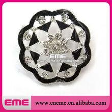 Flower Beautiful New Design Style-fashion Alloy Crystal Rhinestone Buttons Pearl Fashion Wedding Decoration 2014
