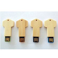 cheap bulk wooden key usb advertising gift
