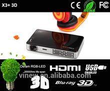 X3S 3D mini home theater projector Window 8 UI
