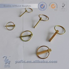 Round hair spring pin
