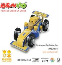 Racing Car Construction Set Kids Wooden Play Game Car Racing