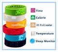 2014 la más reciente de colores 3d podómetro de temperatura inteligente de pulsera