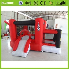 Hot sale red pvc customized inflatable slide and bouncer red