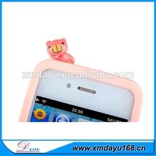 2014 Factory Popular Cute Bow Anti Dust Cap Charm Earphone Plug For Phone