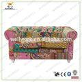 Workwell estofado de madeira clássico e as crianças do sofá com tecido kw-d4034