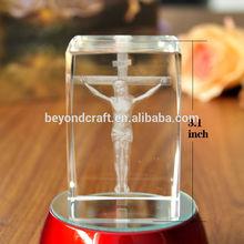jesus cube blank engraved crystal tourist souvenir ,yiwu crystal craft