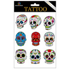 2014 hot-sale skull temporary tattoo sticker for female