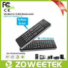 Free Logo Wireless Keyboard With Fly Mouse And IR Remote Control